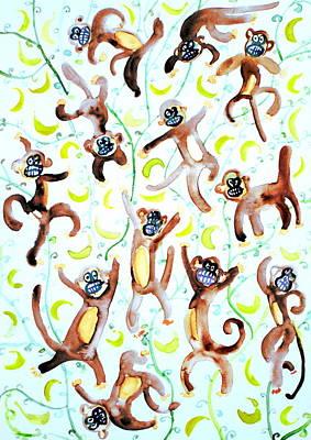Dance Of The Monkeys Poster by Fabrizio Cassetta