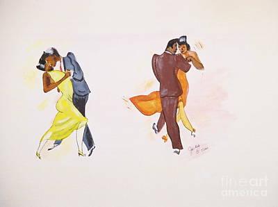 Dance Series-2 Of 8 Lindy Hop Swing Poster