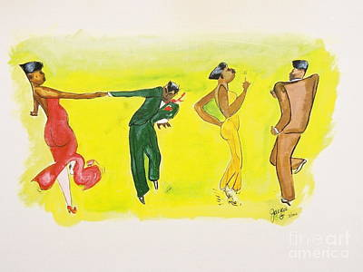 Dance Series 5 Of 8 Lindy Hop-swing Poster