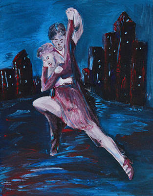 Dance The Night Away Poster by Donna Blackhall