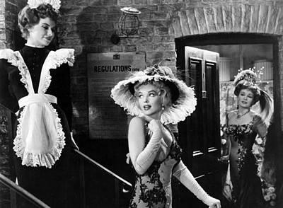 Marilyn Monroe Lights Up Scene Poster