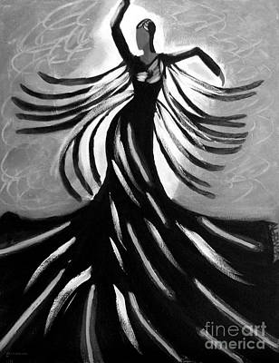 Poster featuring the painting Dancer 2 by Anita Lewis