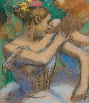 Dancer Adjusting Her Shoulder Poster by Edgar Degas
