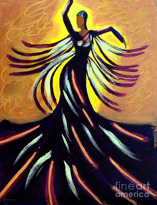 Poster featuring the painting Dancer by Anita Lewis