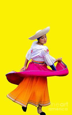 Dancer At Pase Del Nino In Cuenca Ecuador Poster by Al Bourassa