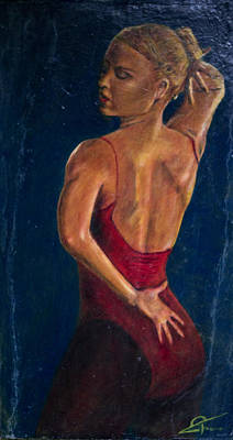 Dancer In Red Poster