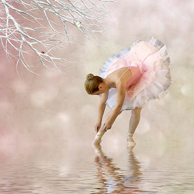 Dancer In Water Poster by Sharon Lisa Clarke