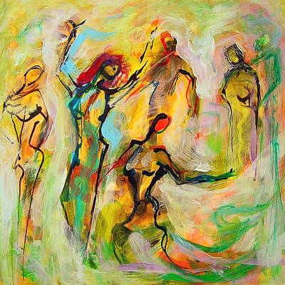 Dancers Poster by Mary Schiros