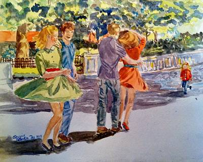 Dancin' In The Park Poster by Jeannie Allerton
