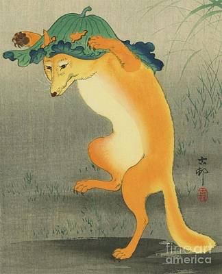 Dancing Fox Poster by Pg Reproductions