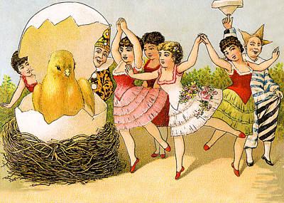 Dancing Girls Poster by Munir Alawi