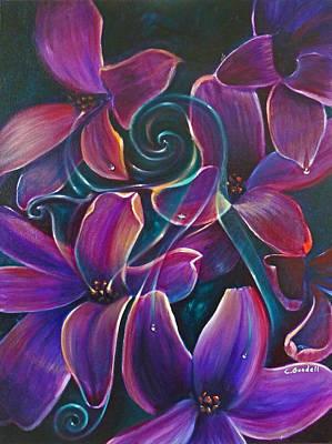 Dancing Hyacinths Poster