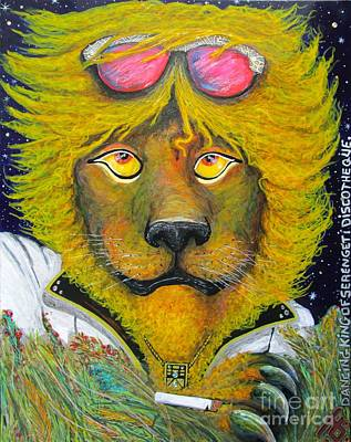 Dancing King Of The Serengeti Discotheque Poster by John Foss