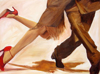 Poster featuring the painting Dancing Legs IIi by Sheri  Chakamian