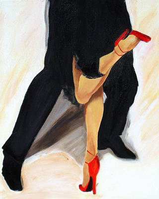 Poster featuring the painting Dancing Legs II by Sheri  Chakamian