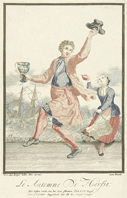 Dancing Man With A Goblet In His Hand, Pieter Van Den Berge Poster by Pieter Van Den Berge
