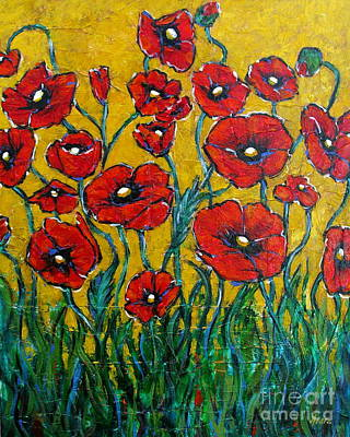 Dancing Poppies Poster by Vickie Fears