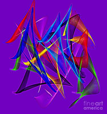 Dancing Satins Poster by Gayle Price Thomas