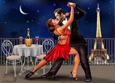 Dancing Under The Stars Poster by Glenn Holbrook