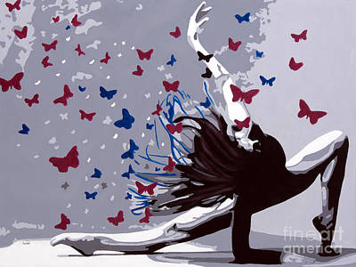 Dancing With Butterflies Poster by Denise Deiloh