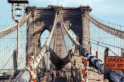 Danger Keep Off - West Tower Brooklyn Bridge Poster
