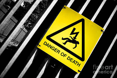 Danger Of Death #2 - A New Slant On An Old Message Poster by Pete Edmunds