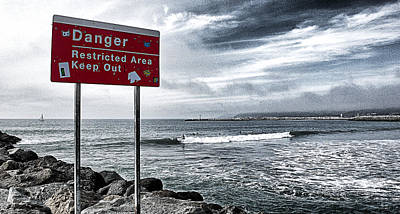 Danger Restricted Area Keep Out Poster by Ron Regalado