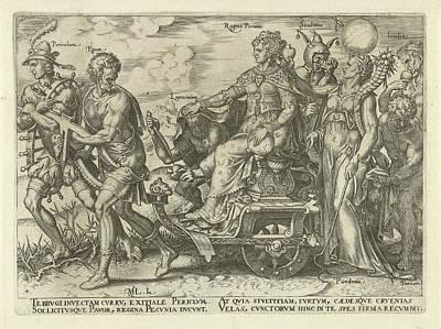 Dangers Of Wealth, Philips Galle, Hadrianus Junius Poster by Philips Galle And Hadrianus Junius