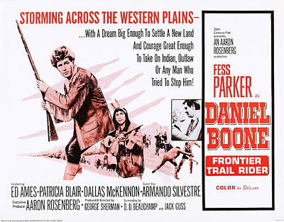 Daniel Boone Frontier Trail Rider, Us Poster