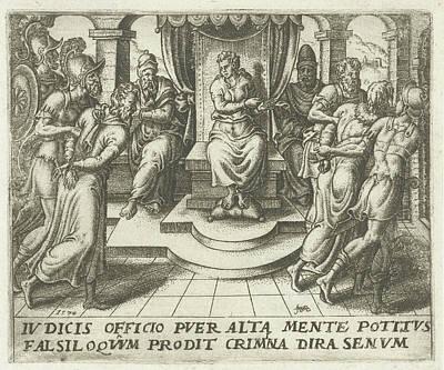 Daniel Condemns The Elders, Abraham De Bruyn Poster by Abraham De Bruyn