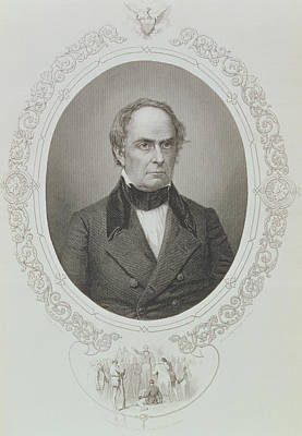 Daniel Webster, From The History Of The United States, Vol. II, By Charles Mackay, Engraved By T Poster by Mathew Brady