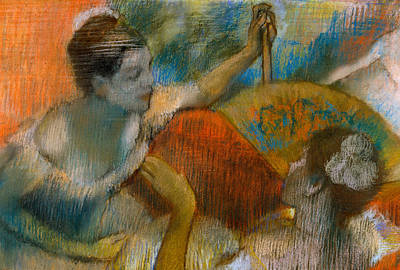 Danseuse A L'eventail Poster by Edgar Degas
