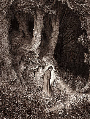 Dante In The Gloomy Wood Poster