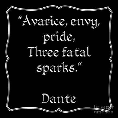 Dante Quote 1 Poster by Rose Santuci-Sofranko