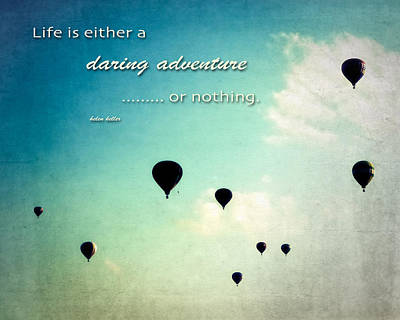Daring Adventure Hot Air Balloons Poster by Eleanor Abramson