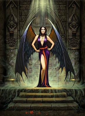 Dark Angel Poster by Chris Heitt