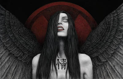 Poster featuring the painting Dark Angel by Pat Erickson