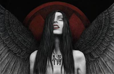 Dark Angel Poster by Pat Erickson