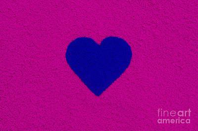 Dark Blue Heart Poster by Tim Gainey