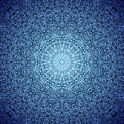 Dark Blue Quasicrystal Poster