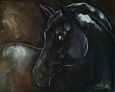 Dark Horse IIi Poster by Leni Tarleton