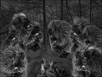Dark Night Picky Eaters In The Moonlight Poster by LeeAnn McLaneGoetz McLaneGoetzStudioLLCcom