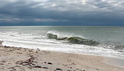 Dark Sky Nokomis Beach Poster by Barbara Chichester