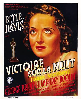 Dark Victory, Aka Victoire Sur La Nuit Poster by Everett