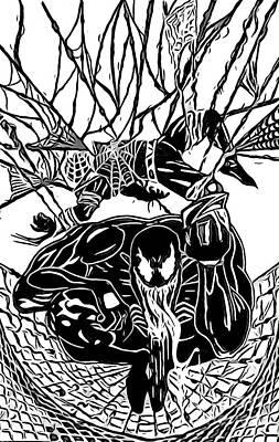 Darkhawk Illustratrion Poster by Justin Moore