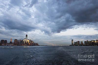 Darks Clouds Over Manhattan Poster