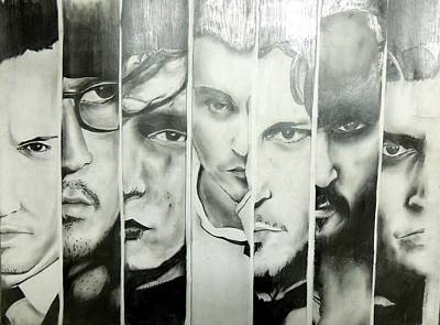 Darkside Of Johnny Depp Poster by Chetan  Raj Pandey
