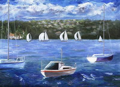 Poster featuring the painting Darling Harbor by Jamie Frier