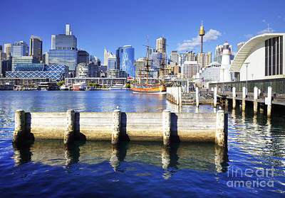 Darling Harbour Sydney Australia Poster by Colin and Linda McKie