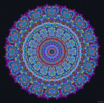 Darren's Mandala Poster by Joy McKenzie